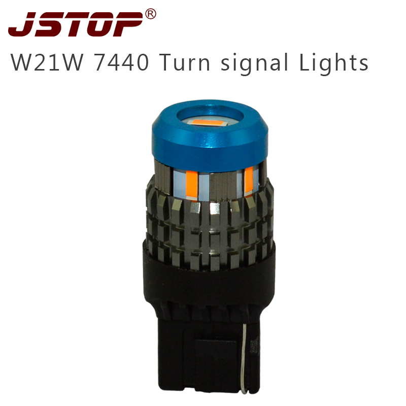 JSTOP <font><b>Led</b></font> Turn Signal W21yW 12V/24V 7440 100% No error For Front or <font><b>Rear</b></font> Turn Signal <font><b>LED</b></font> 1860SMD lamp turn <font><b>bulbs</b></font>(No Hyper Flash) image