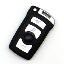 WhatsKey Replacement Uncut Blade Key Shell Fob Case For BMW E65 E66 E67 E68 For 7 Series Smart Card With LOGO