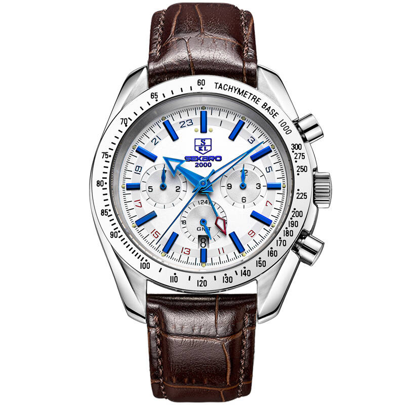 SEKARO 6098 Switzerland watches men luxury brand automatic mechanical Speed racing chronograph luminous Genuine Leather white 2018 new kids toddler birthday wedding party flower ball gown princess dresses baby girls host evening party pageant long dress