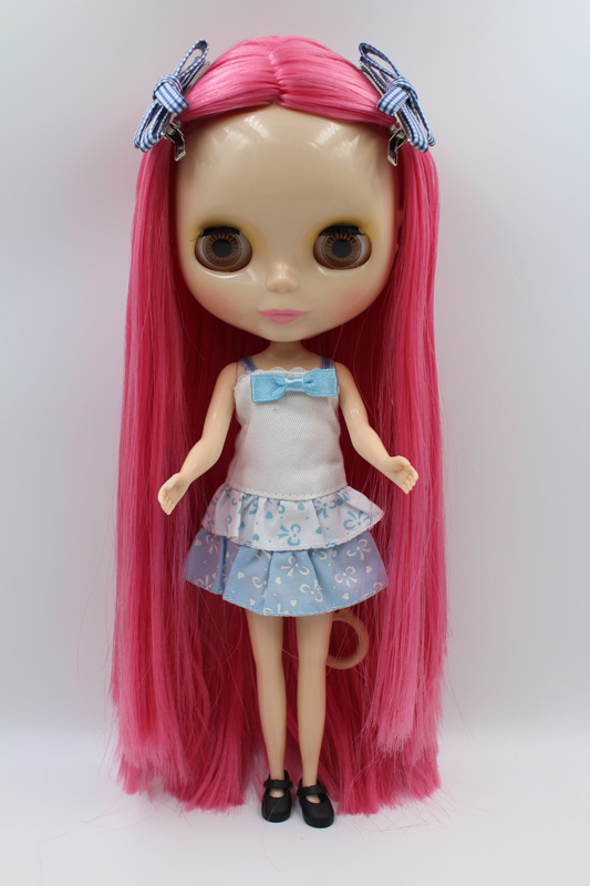 Free Shipping big discount RBL-293DIY Nude Blyth doll birthday gift for girl 4colour big eyes dolls with beautiful Hair cute toy free shipping bjd joint rbl 415j diy nude blyth doll birthday gift for girl 4 colour big eyes dolls with beautiful hair cute toy