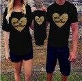Mirada de la familia! algodón familia mamá camisetas a juego camisas patrón de la letra de impresión de manga corta hijo del mameluco de moda family clothing