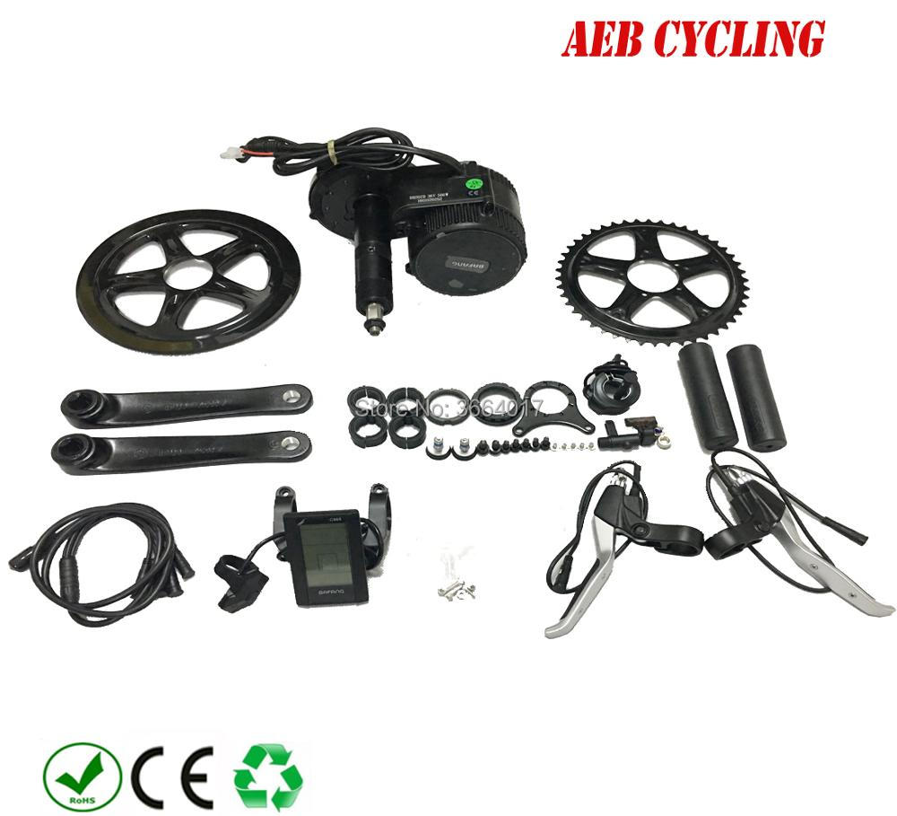Free shipping Bafang Gear motor BBS01B 36V 250W Electric bicycle mid Motor 8FUN mid drive kits with C965/850C LCD display(China)