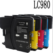 4PK for LC 1100 LC11 LC16 LC38 LC65 LC67 LC980 Ink Cartridges Printer DCP 385C DCP-390CN DCP-395CN DCP-535CN DCP-585CW