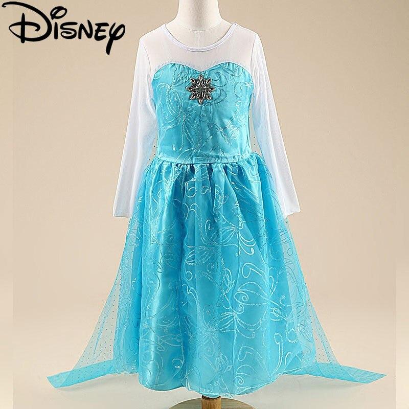 Disney Gefrorene kleid Elsa kostüm schnee königin party prinzessin ...