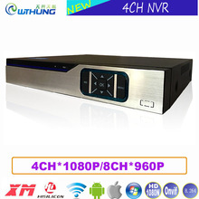 4CH 1080P/8 Channel 960P NVR ONVIF Video Recorder Hi3520D Sensor Xmeye P2P Metal Case HD Digital for CCTV Surveillance IP camera