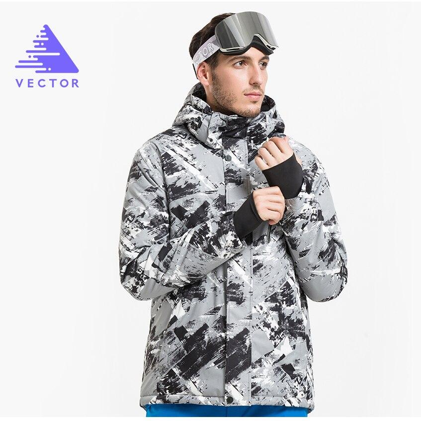 VECTEUR Marque D'hiver Ski Vestes Hommes En Plein Air Thermique Étanche Snowboard Vestes Escalade Neige Ski Vêtements HXF70002