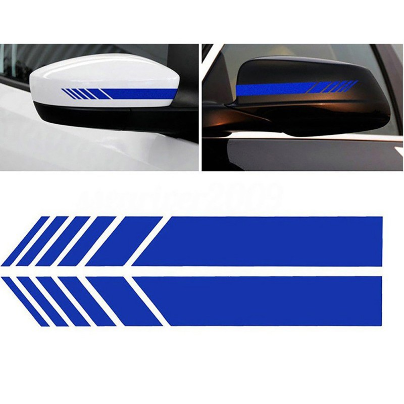 2pcs Car Side Rear View Mirror Stripes Stickers For Car Decor Rearview Mirror Vinyl Car Stickers Car Styling 9449