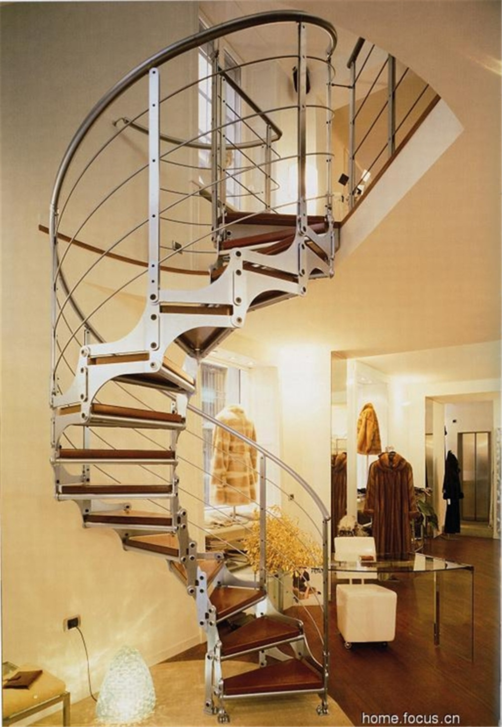 Modern Spiral Font B Staircase B Font Steel Stair With Stainless Steel