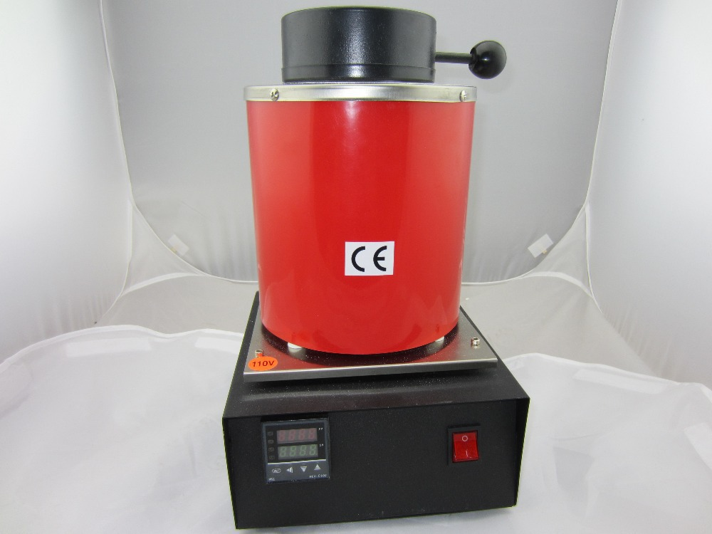 110V , 2KG capacity small melting furnace for melting gold and silver, copper option,Graphite Crucible, jewelry melting crucible