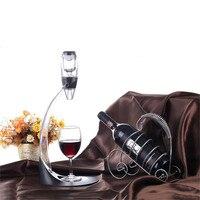 1Set Big Decanter Handmade Crystal Red Wine Brandy Champagne Glasses Decanter Bottle Jug Pourer Aerator For Family Bar