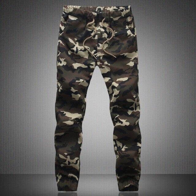 Мужские бегунов Hip Hop тощие камуфляжные брюки военные бегунов мода шаровары мужчины кататься штаны pantalon homme