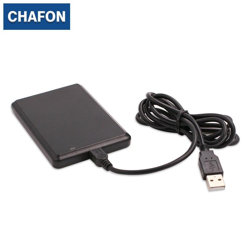 купить CHAFON 125KHz RFID Reader EM4200 TK4100 USB Proximity Sensor Smart Card Reader for Access Control free shipping по цене 603.82 рублей