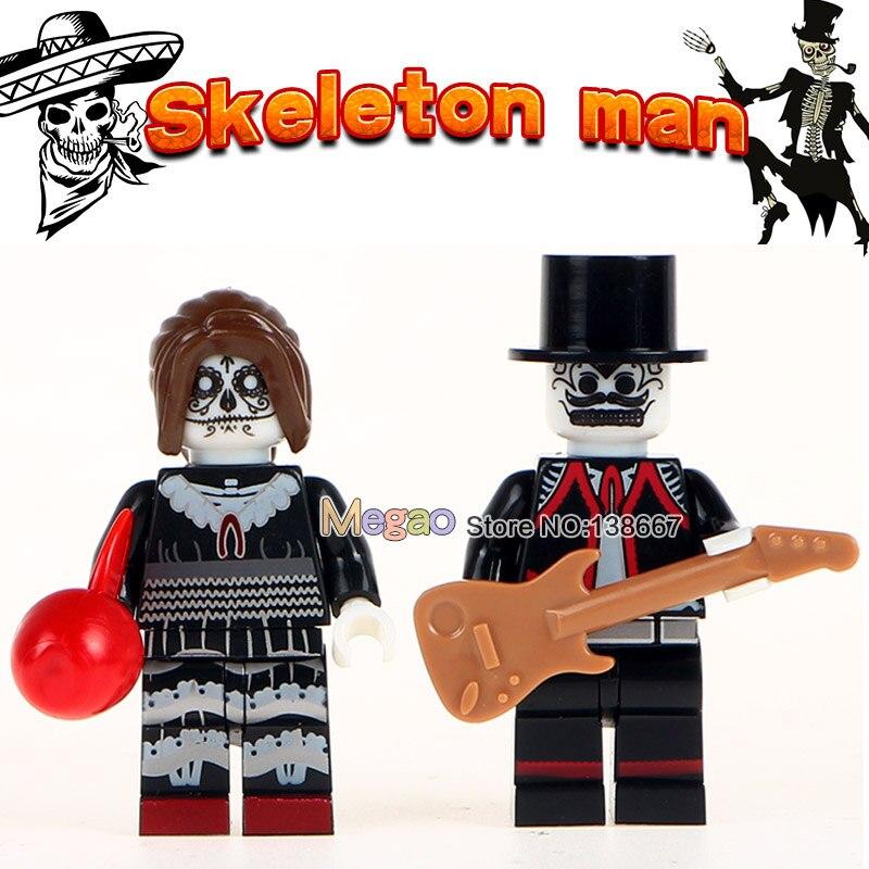 Building Blocks Single WM8003 Sale Skeleton Woman Hector Mexico Movie Coco Model Building Blocks kits Brick Toys for Children