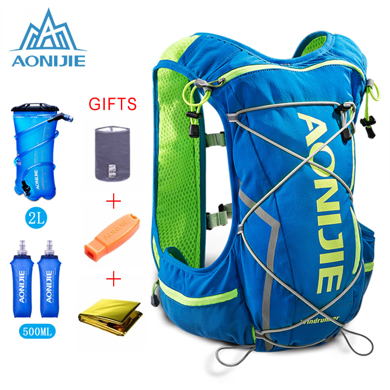 AONIJIE 10L Running Hydration Vest Backpack Men Women Bicycle Outdoor Sport Bags Trail Marathon Jogging Cycling