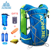 AONIJIE 10L Running Hydration Vest Backpack Men Women Bicycle Outdoor Sport Bags Trail Marathon Jogging Cycling Hiking Backpack