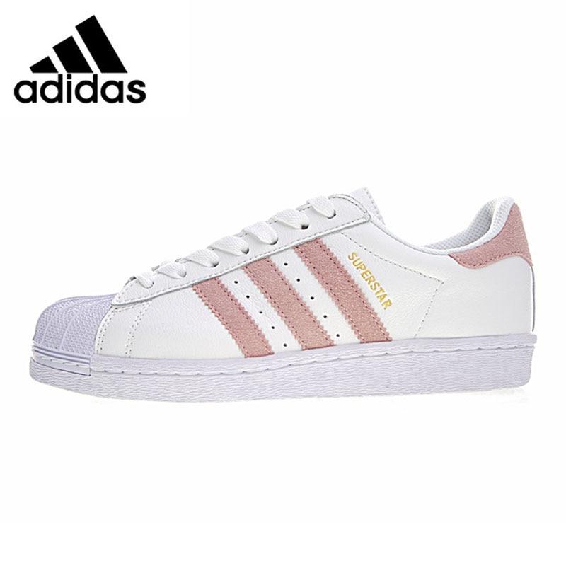 Adidas Superstar Chaussures Marche sportive femme, Rose et Blanc, résistant à L'usure Légère Absorption des Chocs Respirant CP9503