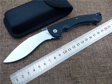 Top Quality EDC camping knife D2 tactical knife g10 handle outdoor utility folding knife hunting survival tool faca