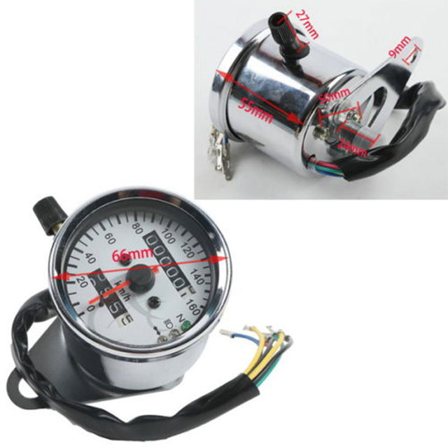 New LED Signal Light Backlight Motorcycle Speedometer Dual Odometer Gauge For Harley-Davidson Honda Yamaha Cafe Racer Universal