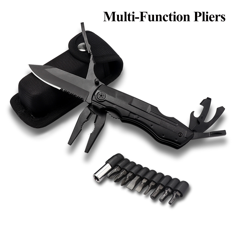 Multitool Pocket Pliers, Multi-Purpose Folding Knives Pliers for Outdoor Survival Camping Hiking Emergency Hand Tool