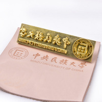 Customized Brass Logo Copper Mold Leather Wood Carving Brand Printing Stamping Bread Cake leather tool iron Heating emboss Mould