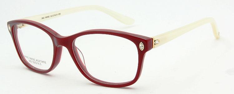 ESNBIE Италия дизайн рамки очки для женщин Роскошные Алмаз оригинальное качество близорукость компьютер Oculos де Грау Femininos бренд - Цвет оправы: frame glasses RD