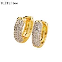 Женские круглые серьги кольца diffanlee charm Европейский золотой