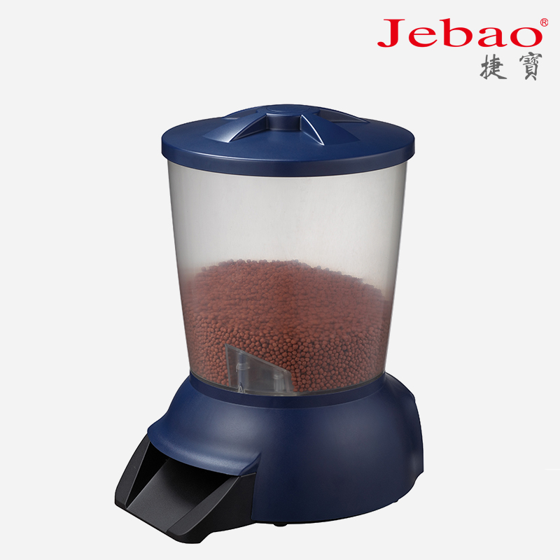 Large Capacity Rechargeable Battery Operated Automatic Pond Fish Feeder 5L Fish Food Aquarium Auto Holiday Koi