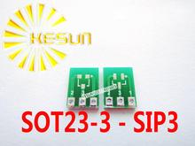 20PCS SOT23 SOT23-3 turn SIP3 DIP 0.95MM Pitch Zener Diode MOS Transistor  IC adapter Socket / Adapter plate PCB Connector