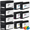 10pcs compatible HP 932 933 XL wide printer cartridge for HP office jet 7510 7512 7610 7612