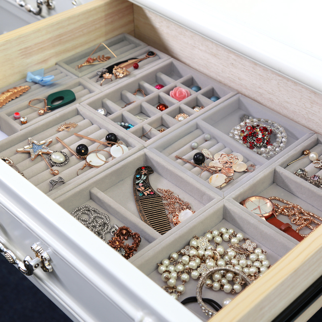 Hot Drawer Diy Rings Bracelets Gift Box Jewelry Storage Tray Jewellery Organizer Earrings Holder Small Size Fit Most Room E