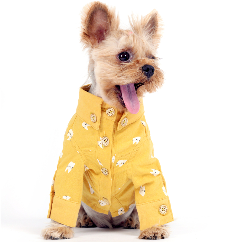 Dog Shirts Dogs Supplies Pet Product Summer Thick Cotton Fashion Shirts shirt fashion shirt dog shirt shirt - title=