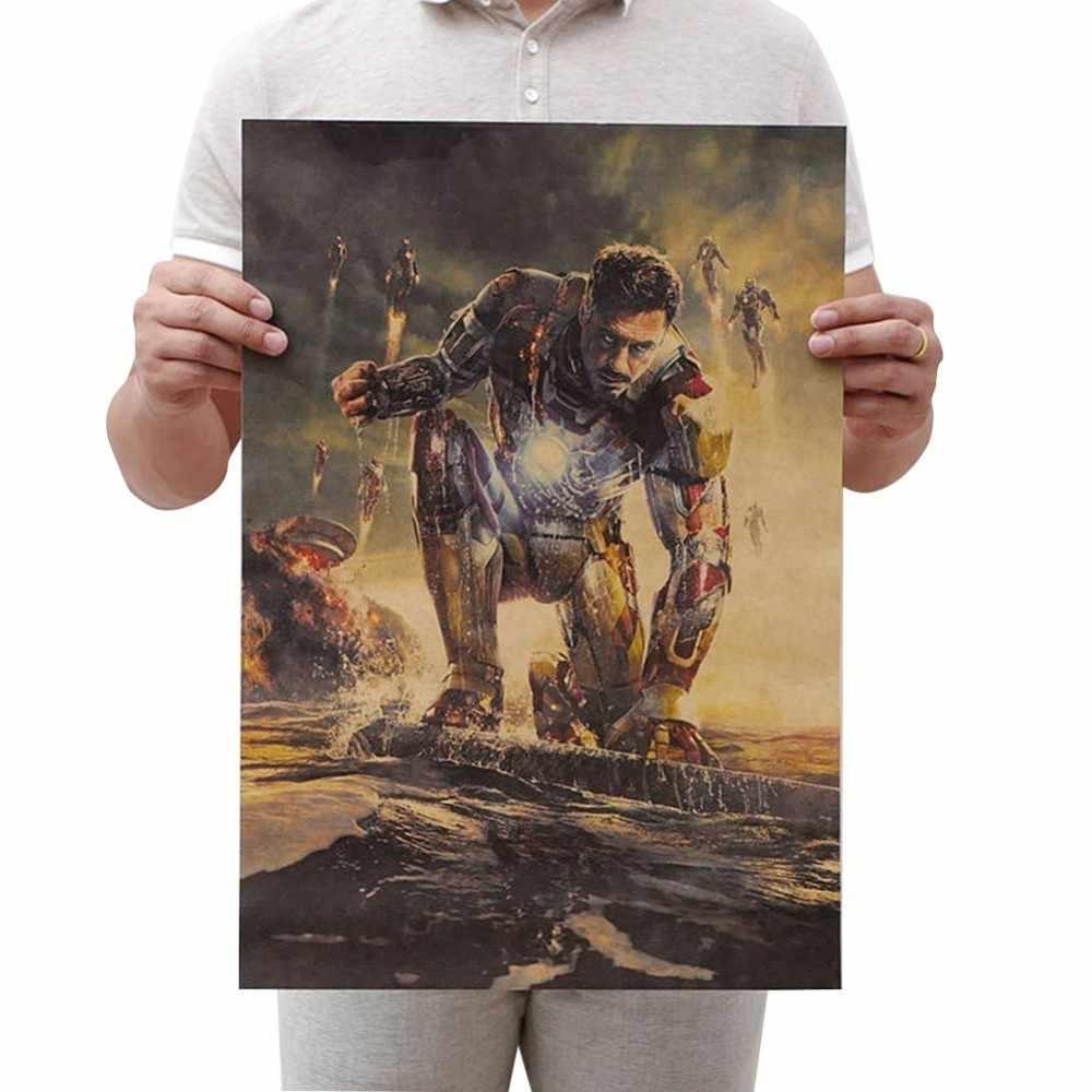 1 Cái Phim Marvel Loạt Poster Avengers Vô Cực Chiến Tranh Retro Poster Dán Tường Phòng Khách Nhà Trang Trí Marvel Poster
