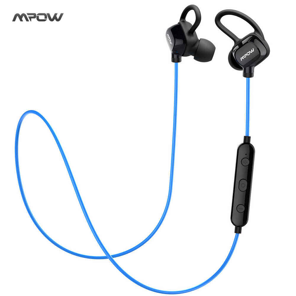 New! MPOW Bluetooth Headphones Wireless Earphones Sweatproof Sports Headset Earbuds CVC6.0 Noise Cancelling for Smart Phones