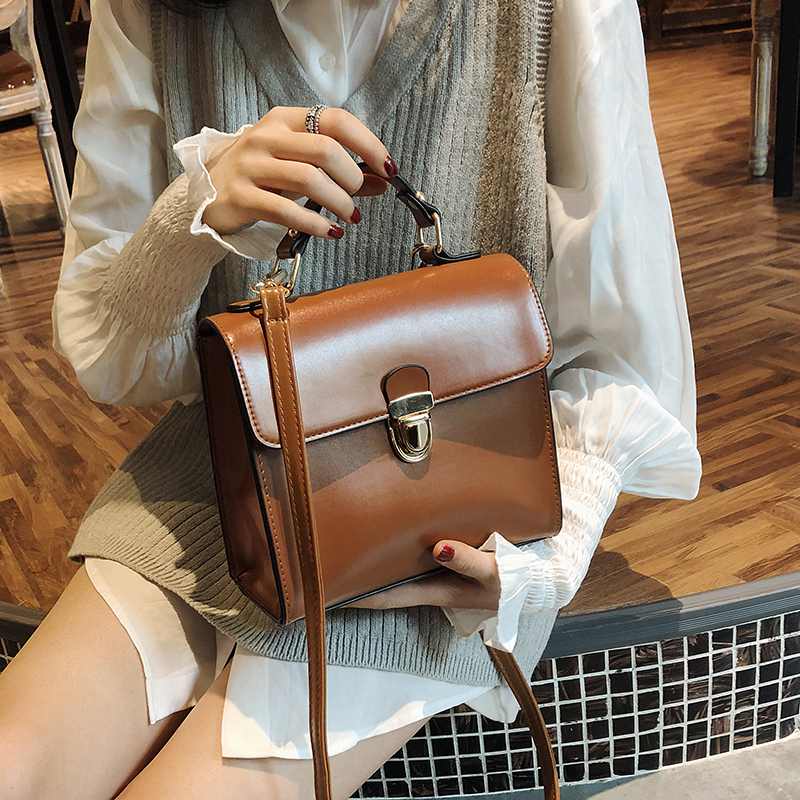 Bags For Women Handbag Designer Small Square Bag New Solid Color Temperament Casual Messenger Bag