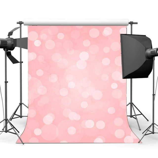 Bokeh Backdrop for Photography Glitter Sequins Baby Pink Background Sweet Baby Shower Girls