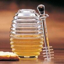 Дозатор меда, меда, сока, jam Jar, Прозрачная Акриловая банка, ложка, мед, ГРЕБЕНКА, бутылка, мед, экструзионный резервуар для маффинов, компаньон