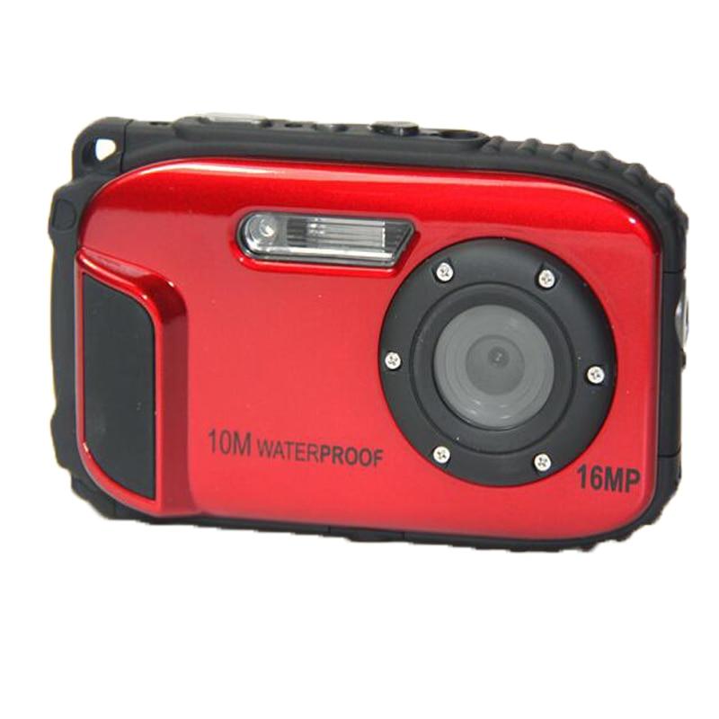 16MP caméra étanche 10 M 8X Zoom sous-marin antichoc appareil photo numérique 2.7 pouces LCD caméras