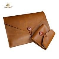 Mimiatrend For Macbook Air 13 Case Retro Genuine Cow Leather Bag For Macbook Pro 11 13