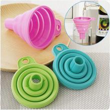 Protable Mini Silicone Dobrável Funil Funil Estilo Dobrável Acessórios de Cozinha Cozinhar Ferramentas Gadgets de Cozinha