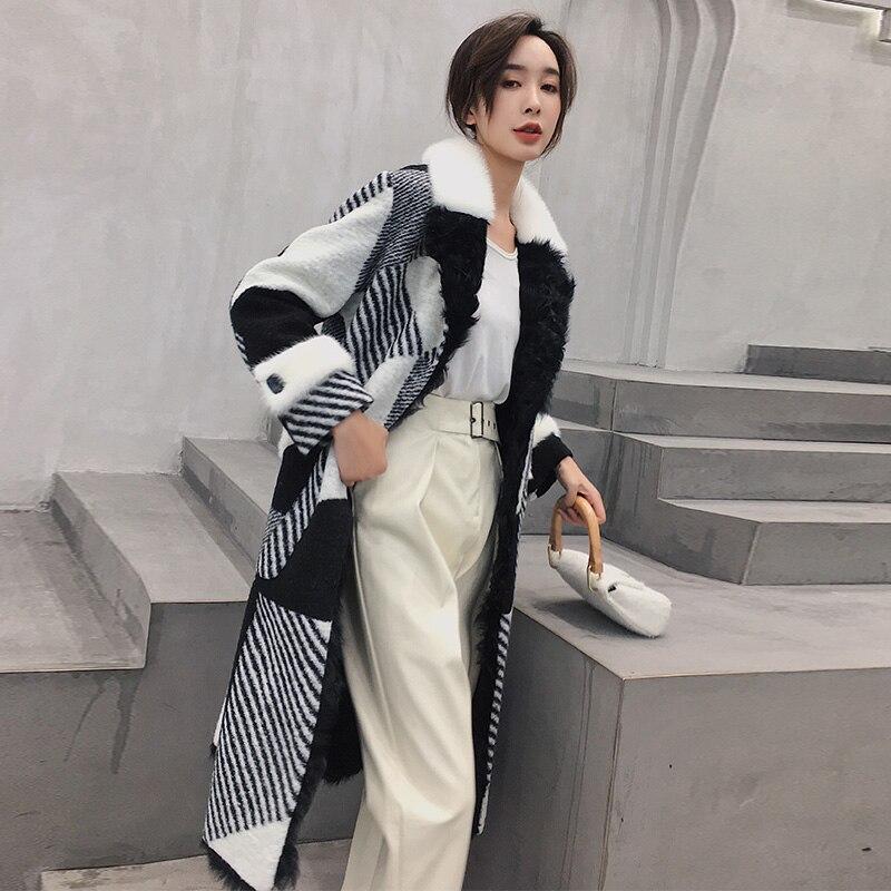 Laine Tops Réel D'hiver De Vison Femme Casual Femmes Veste Qualité Fourrure 2019 Manteau As Show Supérieure Vêtements Hiver Vintage 1EqBaxwR