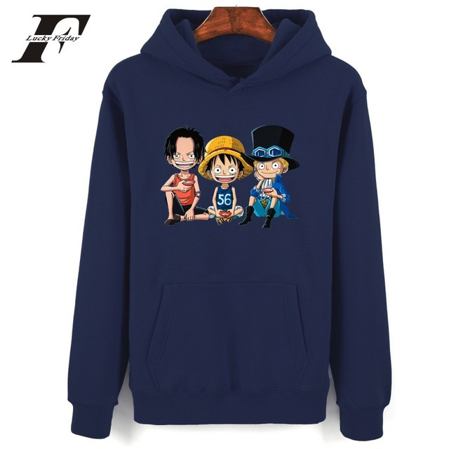 One Piece Cartoon Print Women Kpop Hoodie Harajuku Sweatshirt