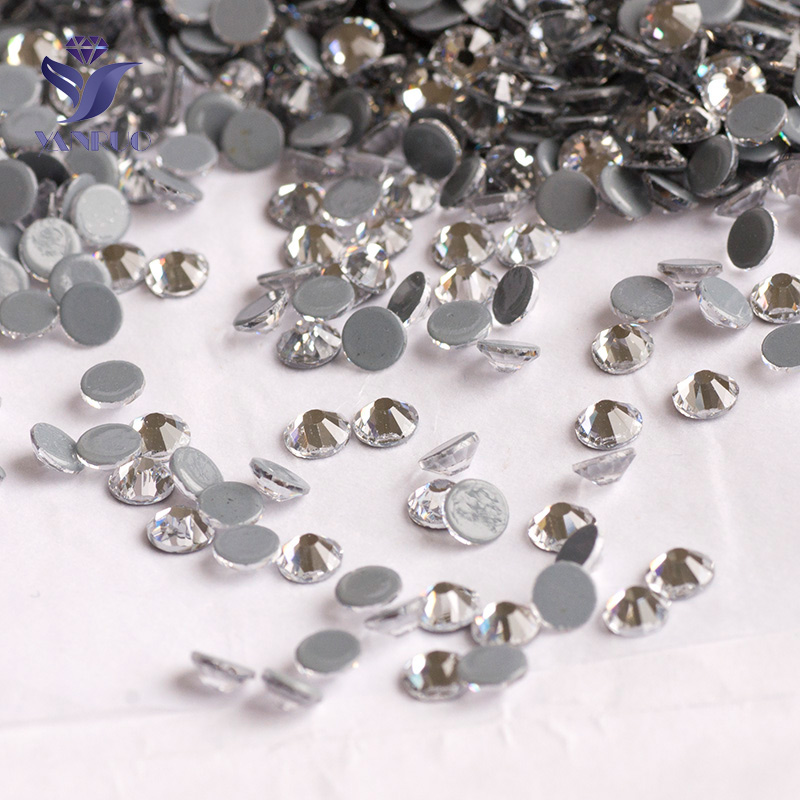 YANRUO 2058HF Crystal Hot Fix Rhinestones Crystal And Stones Flatback  Rhinestones Hotfix Crystals Stones For Clothes Dresses-in Rhinestones from  Home ... 0a432de7df94