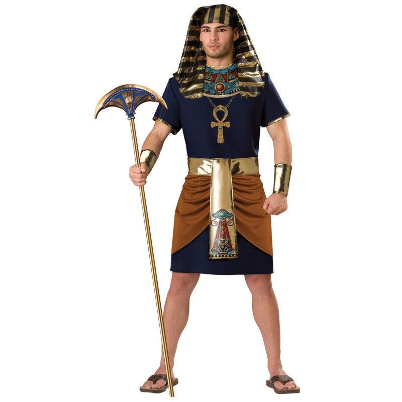Adult Egyptian Pharaoh Halloween Costume Tut Cosplay Fancy Dress for Men