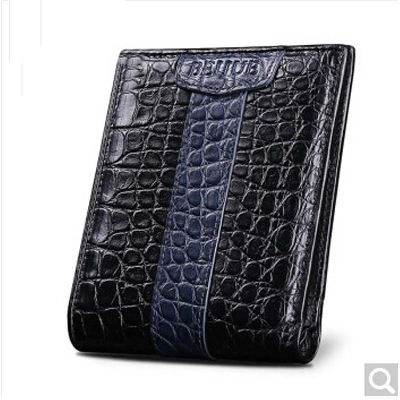 Beijue crocodile belly men's wallet leather wallet men's wallet short short men's wallet male crocodile leather wallet blue Vert 2016 special wholesale male wallet wander settling anywhere a stall with spread out on ground short fund wallet ultrathin will
