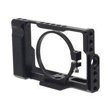 소니 DSC RX100 iii (m3) iv (m4) v (m5) dslr 카메라 케이스 케이지 카메라 리그 콜드 슈 용 rx100m3/rx100m4/rx100m5 카메라 케이지