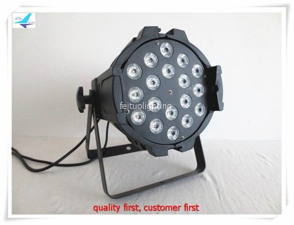 free shipping 6pcs/lot Stage 18X18W DMX Led Par Light 6in1 RGBWA UV Noiseless Par 64w Wash Strobe Disco Club DJ Par Can Lighting