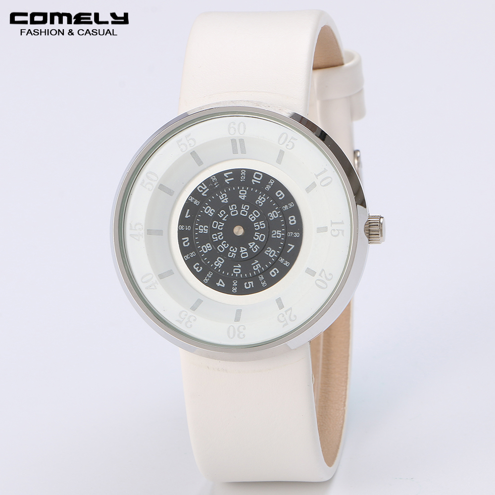 New Fashion Watch Unisex Luxury Casual Leather Band Round Shape Concise Classic Wristwatch for business gift