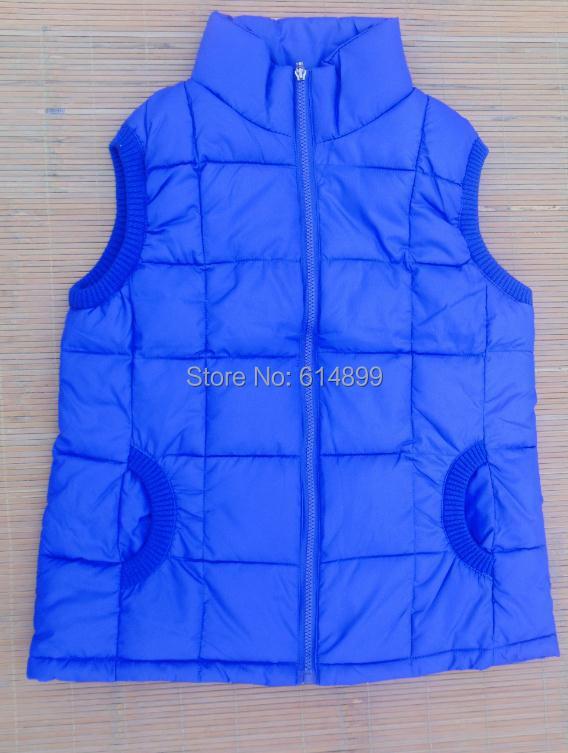 in Stock Autumn Winter Fashion zipper down cotton vest, female army green collar jacket, size L-XXXL, factory direct sales 306