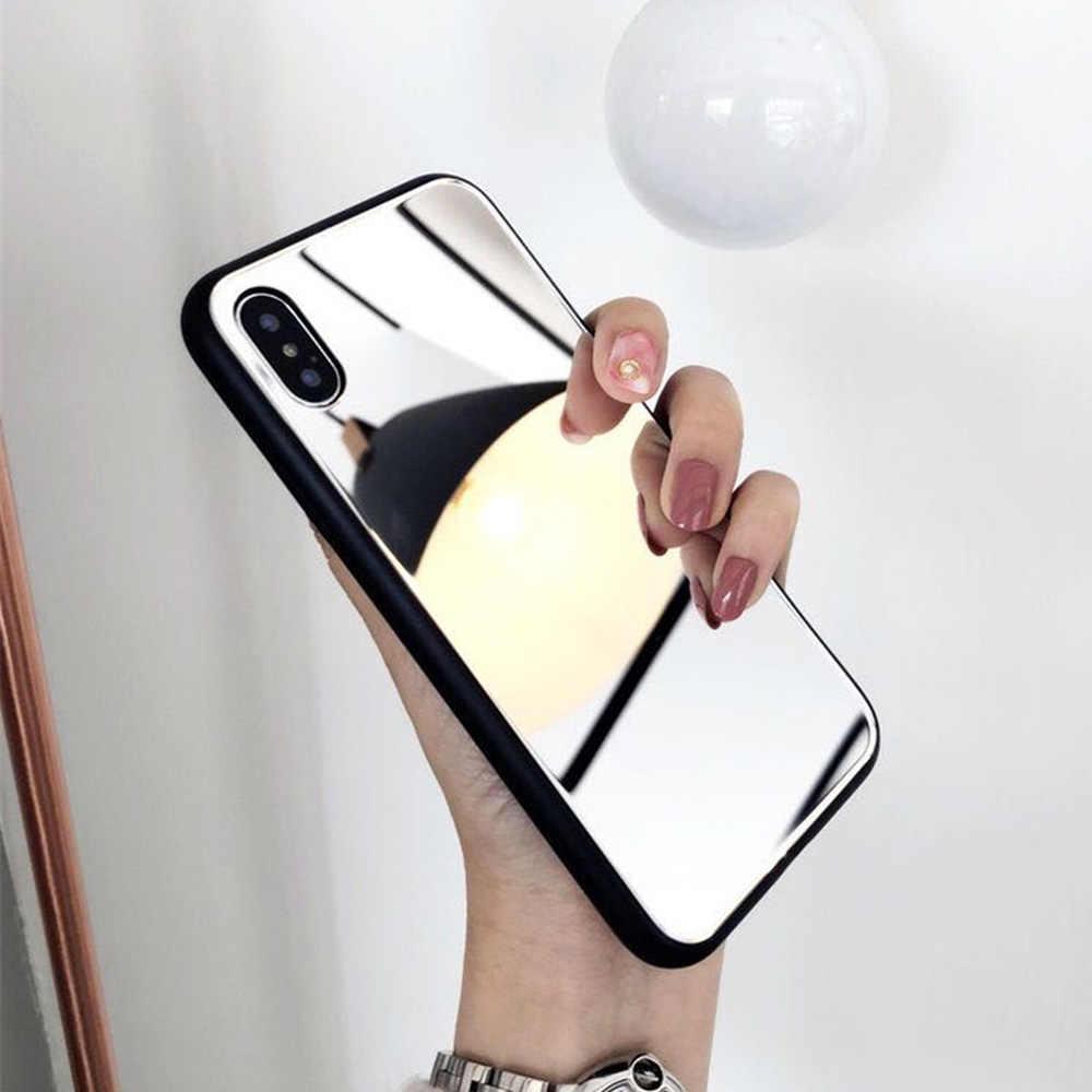 Maquillaje espejo de teléfono caso para OPPO R9S R11 R11S A37 A59 F1S A57 A39 F5 A73 A83 A1 f7 F9 A7X A3 A5 A3S elegante Shell