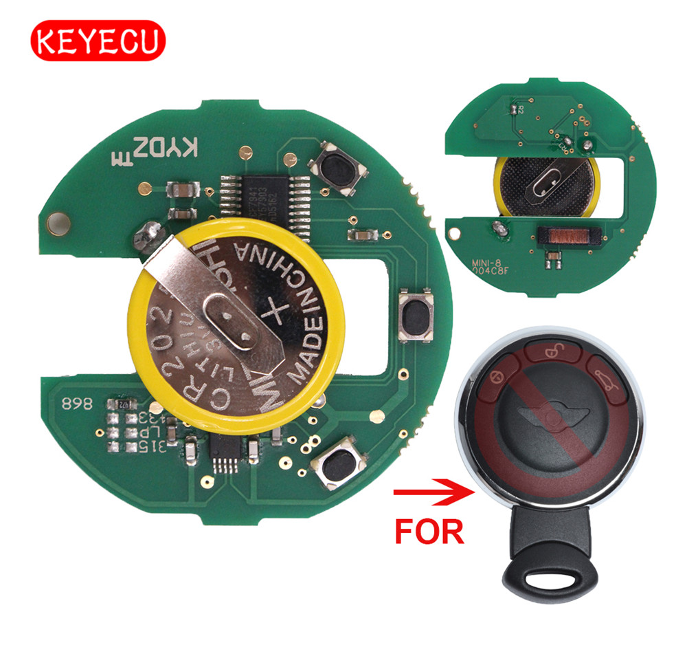Keyecu Rechargeable Battery Remote Borad CAS System 315LP/315MHZ/433MHZ/868MHZ for BMW Mini Cooper 2007-2014 (No key shell)